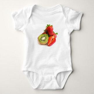 Strawberry and kiwi baby bodysuit