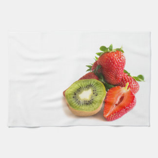 Strawberry and kiwi kitchen towel