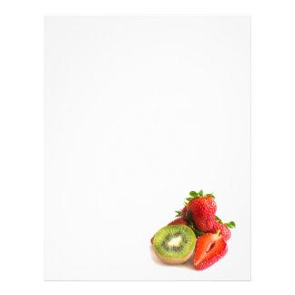 Strawberry and kiwi letterhead