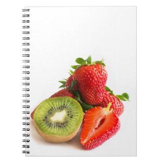 Strawberry and kiwi notebook
