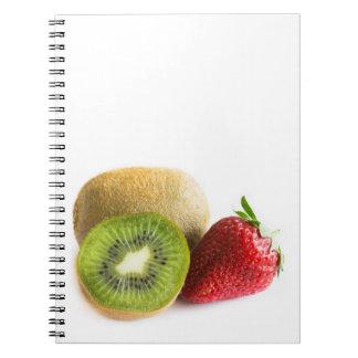 Strawberry and kiwi notebooks