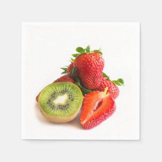 Strawberry and kiwi paper napkins