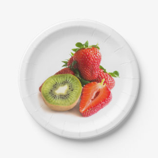 Strawberry and kiwi paper plate