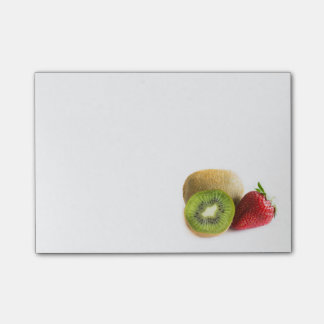 Strawberry and kiwi post-it notes