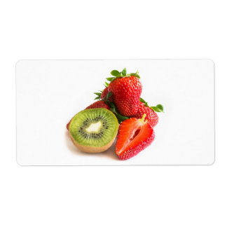 Strawberry and kiwi shipping label
