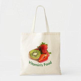 Strawberry and kiwi tote bag