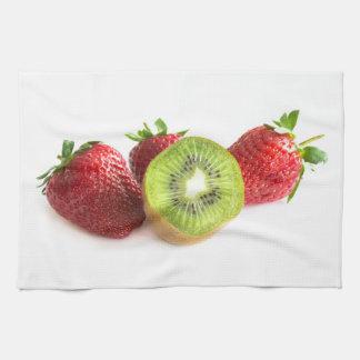 Strawberry and kiwi towel