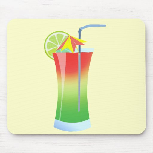 Strawberry and Lime Cooler Mouse Pad