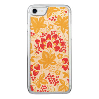 Strawberry and Maple Carved iPhone 8/7 Case