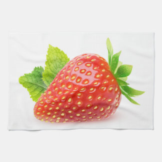 Strawberry and mint kitchen towel