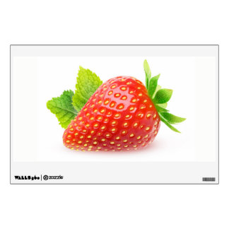 Strawberry and mint wall sticker