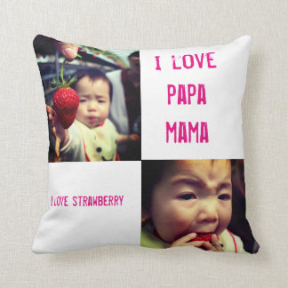 strawberry and Sun Throw Pillow
