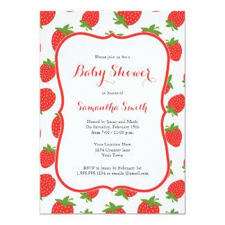 Strawberry Baby Shower Invitation