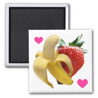 Strawberry Banana Love Magnet