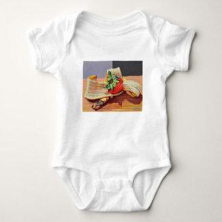 Strawberry Banana Split Baby Bodysuit
