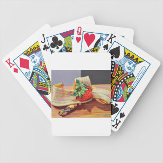 Strawberry Banana Split Bicycle Playing Cards