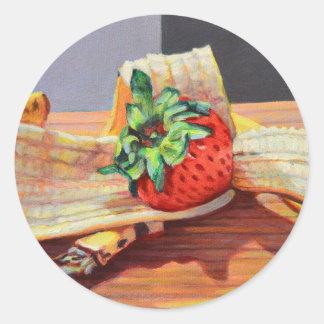 Strawberry Banana Split Classic Round Sticker