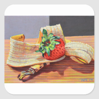 Strawberry Banana Split Square Sticker