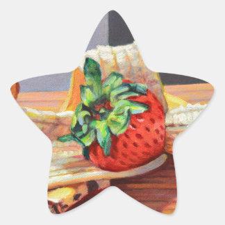 Strawberry Banana Split Star Sticker