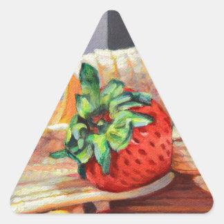Strawberry Banana Split Triangle Sticker