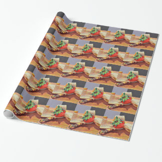 Strawberry Banana Split Wrapping Paper