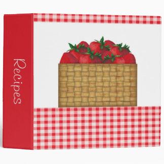 "Strawberry Basket 2"" Recipe Binder"