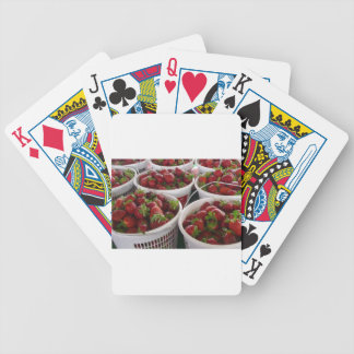 strawberry basket bicycle playing cards