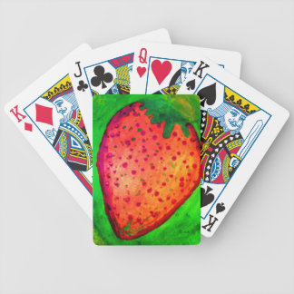 strawberry bicycle playing cards