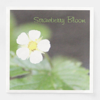Strawberry Bloom Disposable Napkins