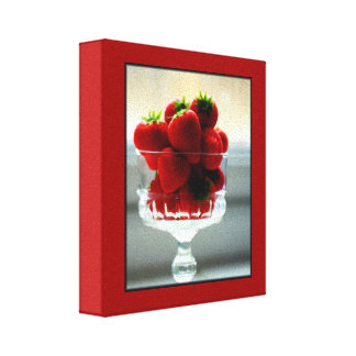 Strawberry Bowl Wrapped Canvas Gallery Wrap Canvas