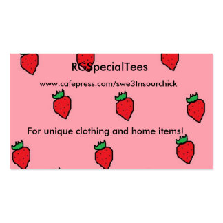 Strawberry business card