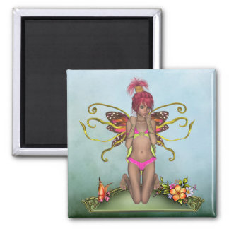 Strawberry Butterfly Fairy Magnet
