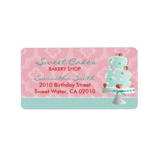 Strawberry Cake Address Label C