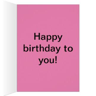 Strawberry Cake Birthday Card