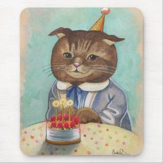 Strawberry Cake Birthday Kitty Mouse Pad