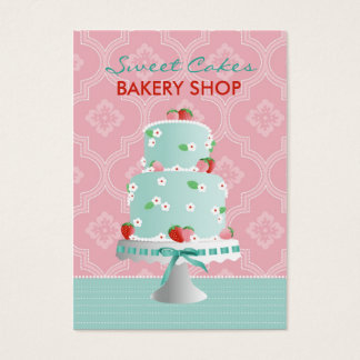 Strawberry Cake Business Card C