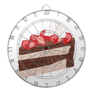 Strawberry Cake Dartboard With Darts