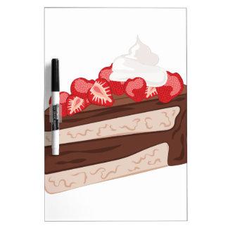 Strawberry Cake Dry Erase White Board