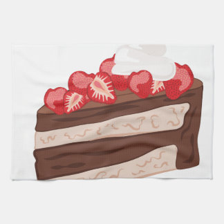 Strawberry Cake Kitchen Towels
