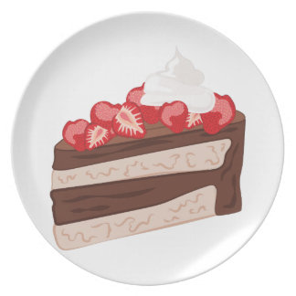 Strawberry Cake Party Plate