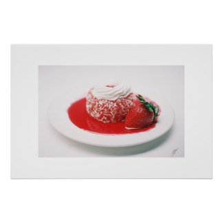 Strawberry cake poster
