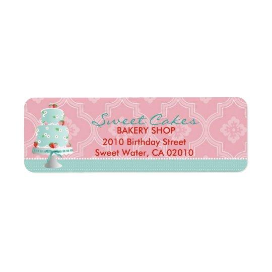 Strawberry Cake Return Label C