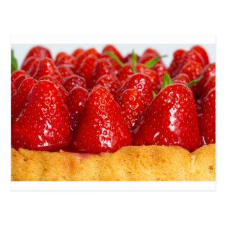 Strawberry cake with mint postcard