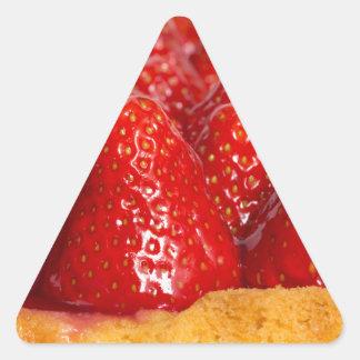 Strawberry cake with mint triangle sticker