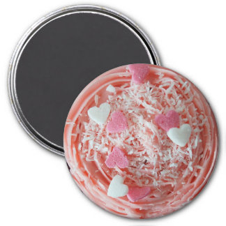 Strawberry Candy Hearts Coconut Cupcake Magnet