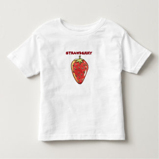 strawberry cartoon style illustration toddler t-shirt