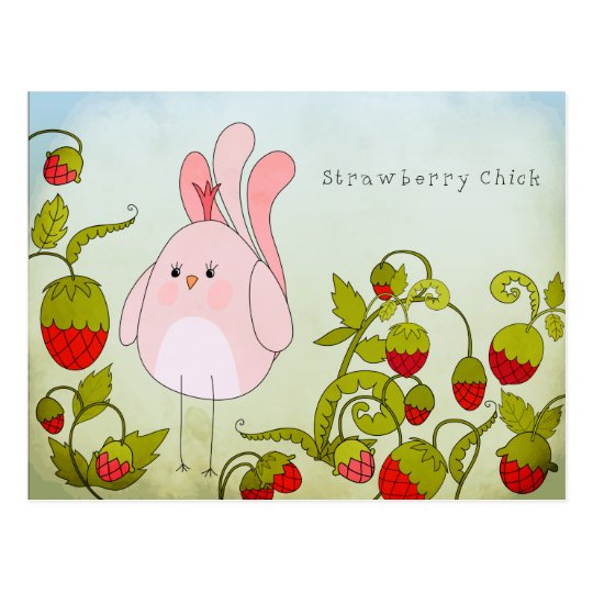 Strawberry Chick Postcard