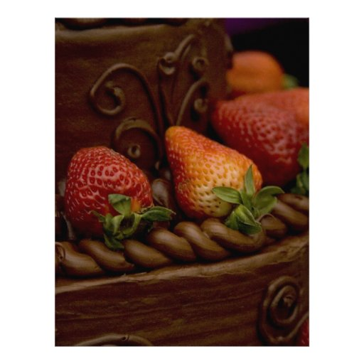 Strawberry Chocolate Cake Personalized Letterhead