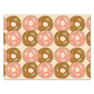 Strawberry & Chocolate Frosted Donuts Tissue Paper