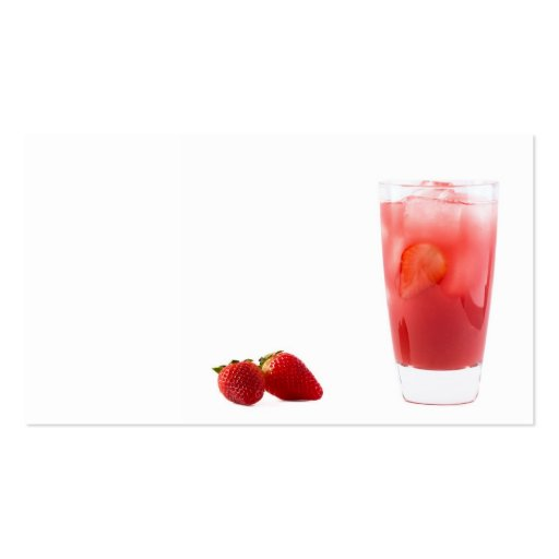 Strawberry cocktail business cards